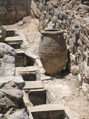 old amphora in Knossos palace of Minoan culture