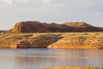 Lake Powell Mesa at Sunrise Landscape