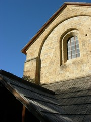 Soleil du soir sur Abbaye Romane - Boscodon - Hautes alpes