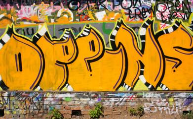 Urban graffiti close-up