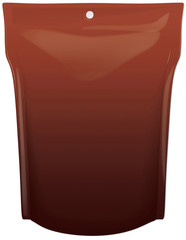 3d concept illustration of a chocolate pouch