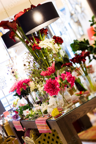 flowers in the decoration store