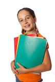 Enfant  avec cahiers de classe poster