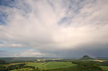 Blick vom Kleinen Bärenstein in der Sächsischen Schweiz