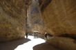 The Siq - a narrow canyon - Petra, Jordan