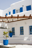 typical architecture greek islands poster