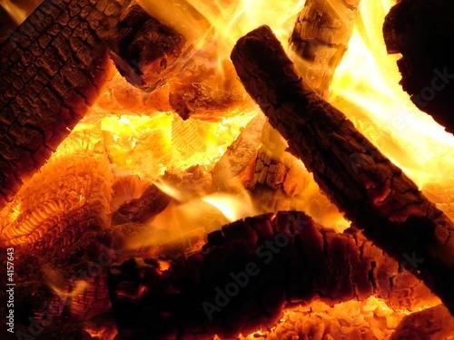 Hot Bonfire Coals
