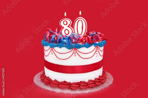 80th Cake