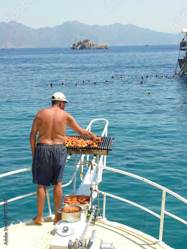 Barbecue en mer