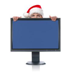 Monitor and Santa