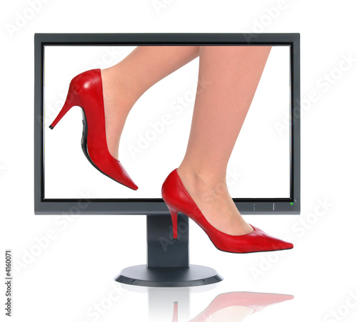 Girl Stepping Out of the Monitor