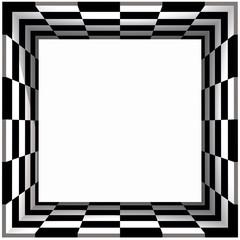 Box Frame Checker Board