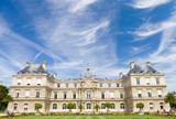 Paris famous castle. Wide angle view. poster
