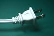 Electric Plug on Green