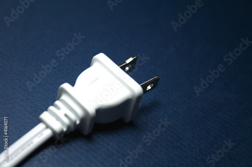 Electric Plug on Blue