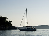 Adriatic coast sunset poster