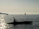 Adriatic coast sunset - kayaking poster