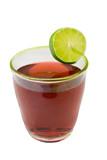 sparkling cherry beverage poster