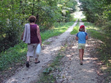 granddaughter and grandma hiking poster