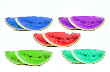 Happy Watermelons  Isolated