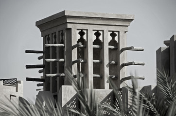 A Windtower in the city of Dubai