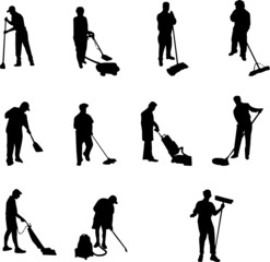janitor silhouettes