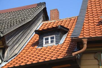 Kleines Dach mit Dachgaube