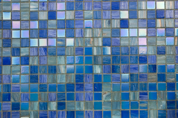 Blue mosaic texture