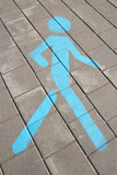Pedestrian sign on the pavement poster