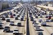 Leinwanddruck Bild - Los Angeles Freeway Traffic--the 405