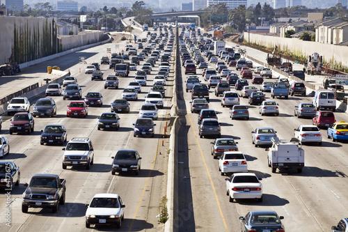 Leinwanddruck Bild Los Angeles Freeway Traffic--the 405