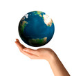 Hand Holding Earth Globe