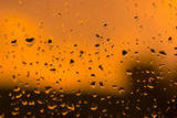 Abstract orange water drops background