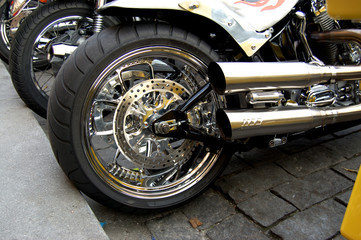 Tires back of motorcycle