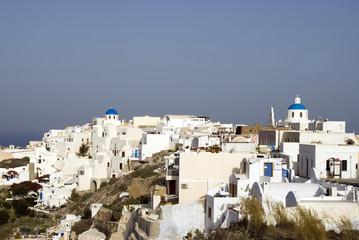 scene town of oia santorini
