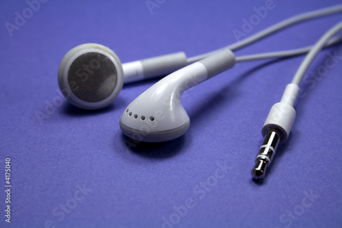 Earphones on Purple