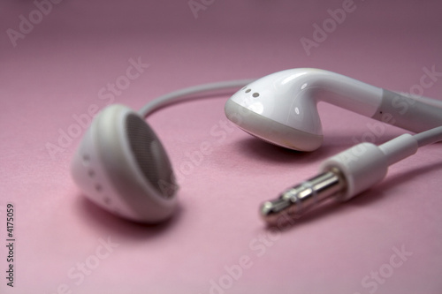 Earphones on Pink