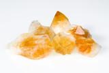 Rough citrine gemstones poster