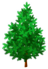 New year tree green isolated