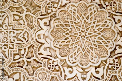 Leinwanddruck Bild Islamic (Moorish) Art, Alhambra, Granada
