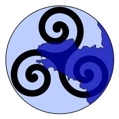 Symbole de la Bretagne sur carte