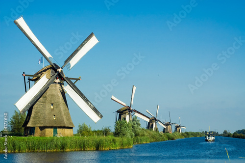 beautiful dutch windmill landscape - 4177650