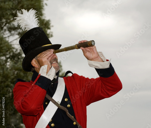 soldier with telescope