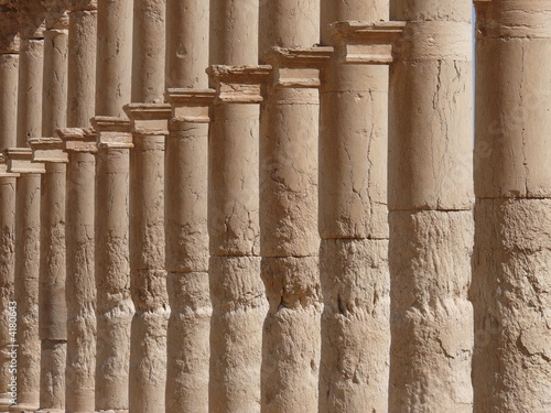 Ancient columns close up, Great Colonnade, Palmyra, Syria