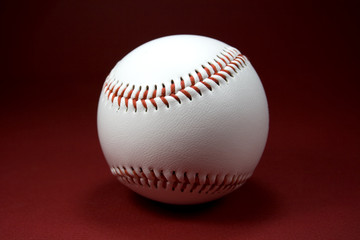 Baseball on Red