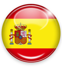 spanien button flagge