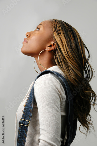 Woman Looking Upward