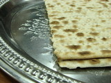 Matzo on silver plate 2