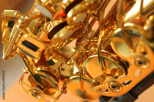 close-up saxophone