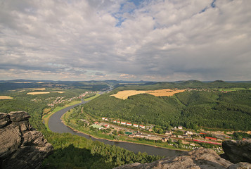Blick vom Lilienstein in der Sächsischen Schweiz